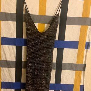Black sparkling dress!! Stretchy material